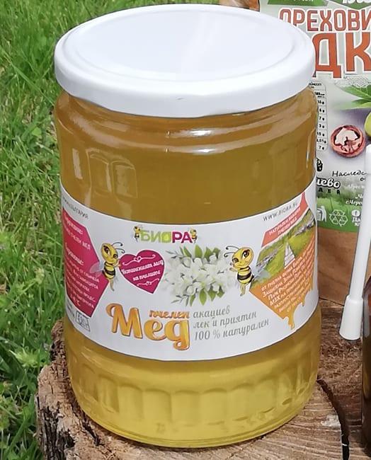 ИЗЧЕРПАН! Акациев мед и Пролетен многоцветен мед – 720г, 10бр