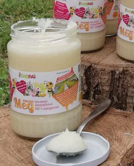 Пролетен многоцветен мед с рапица (канола), шипки, глог – 720г, 10бр