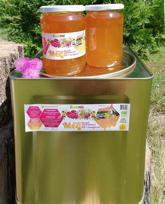 ИЗЧЕРПАН! Билков многоцветен мед – тенекия, 22кг