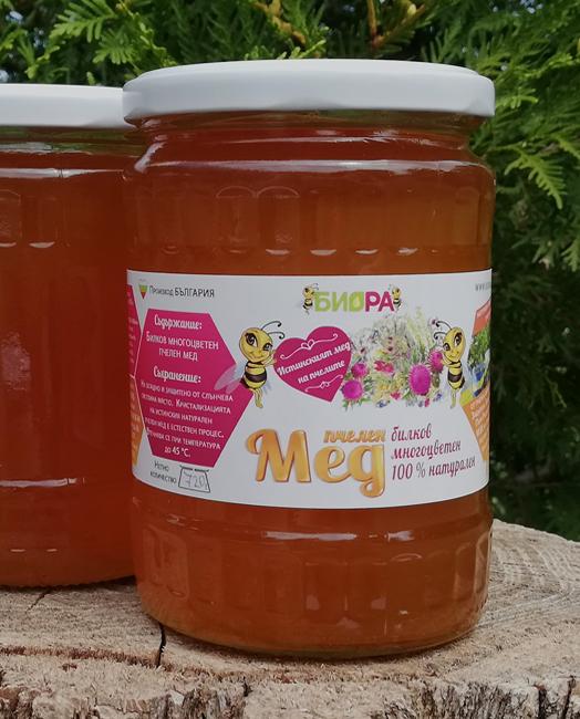 Билков многоцветен мед – 720г, 10 бр