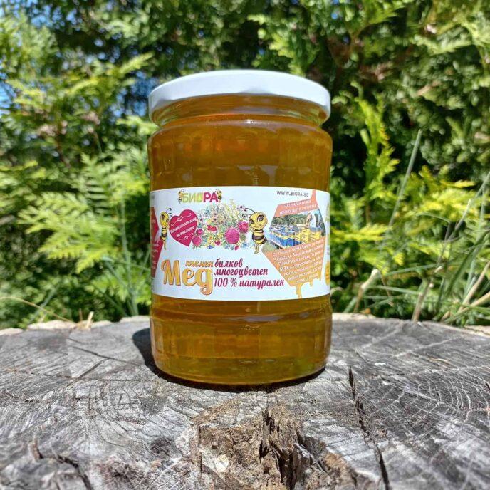 Билков многоцветен мед, кристализирал- 720г, 10 бр, реколта 2021